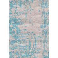 Noura Handloom Silver Beige / Neptune Blue Rug
