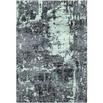 Raven Gray / Skeptic Green Silken Modern 8x10 Rug