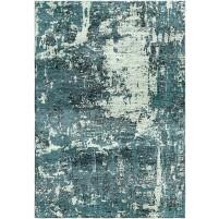 Nevada Green / Spring Blue Silken Modern 8x10 Rug