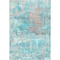 Glacier Blue / Silk Gray Silken Modern 8x10 Rug