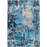 Smalt Blue / Silver Sand Silken Modern 8x10 Rug