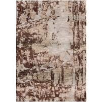 Walnut Brown / Desert Sand Silken Modern 8x10 Rug