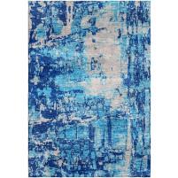 Matisse Blue / Tide Gray Silken Modern 8x10 Rug