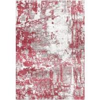 Hippie Red / Carrara ivory Silken Modern 8x10 Rug