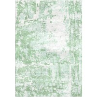 Norway Green / Pearl White Silken Modern 8x10 Rug