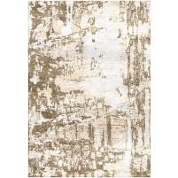 Domino Brown / Carrara ivory Silken Modern 8x10 Rug