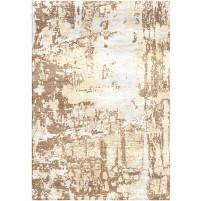 Sandal Brown / Spanish White Silken Modern 8x10 Rug