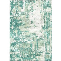 Patina Green / Periglacial Blue Silken Modern 8x10 Rug
