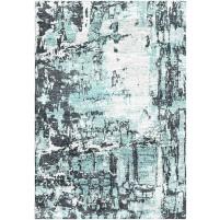 Mist Ivory / Space Gray Silken Modern 8x10 Rug