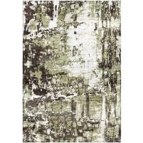 Tallow Green / Armadillo Charcoal Silken Modern 8x10 Rug