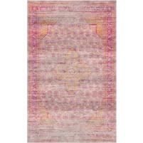 Ronda Handloom Swirl Beige / Hopbush Pink Rug