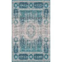 Abra Handloom Silver Beige / Smalt Blue Rug