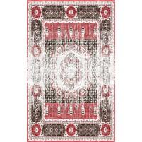 Abra Handloom Cararra Ivory / Matrix Red Rug