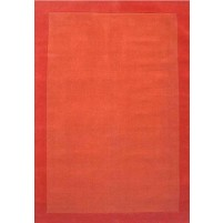 Henley Border Orange Dark Orange 3x5 Border Rug