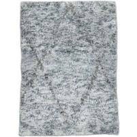 Modern Hand Knotted Wool / Silk Grey 2' x 3' Rug - irfn000030
