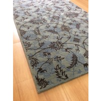 Handmade Wool Floral Green/ Brown 5x8 lt1113 Area Rug