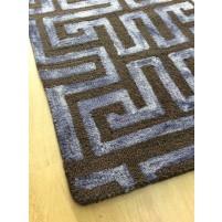 Handmade Wool Modern Browm / Beige 5x8 lt1119 Area Rug