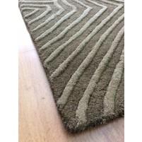 Handmade Wool Modern Brown 5x8 lt1124 Area Rug