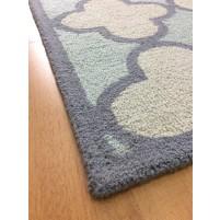 Handmade Wool Modern Blue/ Ivory 5x8 lt1135 Area Rug