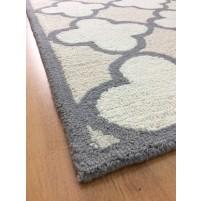Handmade Wool Modern Beige/ Ivory 5x8 lt1145 Area Rug