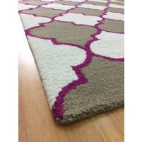 Handmade Wool Modern Beige/ Brown 5x8 lt1147 Area Rug