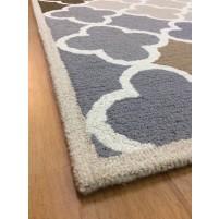 Handmade Wool Modern Beige/ Green 5x8 lt1184 Area Rug
