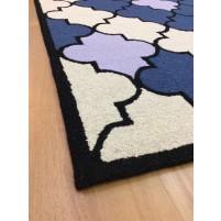Handmade Wool Modern Blue/ Ivory 5x8 lt1198 Area Rug