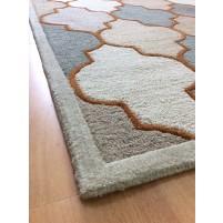 Handmade Wool Modern Beige/ Green 5x8 lt1211 Area Rug