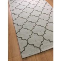 Handmade Wool Modern Beige/ Green 5x8 lt1236 Area Rug