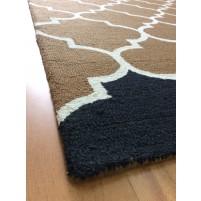 Handmade Wool Modern Brown/ Navy Blue 5x8 lt1250 Area Rug