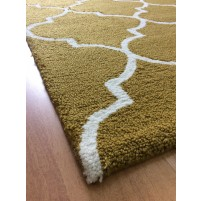 Handmade Wool Modern Brown/ Ivory 5x8 lt1252 Area Rug