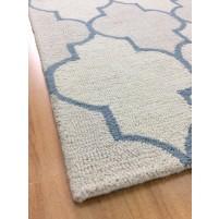 Handmade Wool Modern Beige/Ivory 5x8 lt1273 Area Rug
