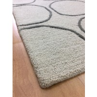 Handmade Wool Modern Beige/Green 5x8 lt1282 Area Rug