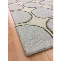 Handmade Wool Modern Beige/ L.Blue 5x8 lt1293 Area Rug