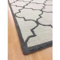 Handmade Wool Modern Beige/ Gray 5x8 lt1295 Area Rug
