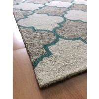 Handmade Wool Modern Brown/ Ivory 5x8 lt1325 Area Rug