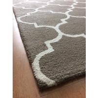 Handmade Wool Modern Brown/ Ivory 5x8 lt1333 Area Rug