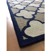 Handmade Wool Modern Brown/ Ivory 5x8 lt1349 Area Rug