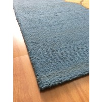 Handmade Wool Modern Blue/ Brown 5x8 lt1353 Area Rug