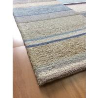 Handmade Wool Modern Beige/ Silver 5x8 lt1366 Area Rug