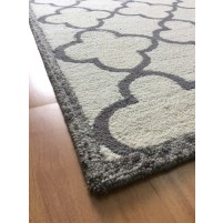 Handmade Wool Modern Beige/ Gray 5x8 lt1372 Area Rug