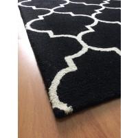 Handmade Wool Modern Black/ Ivory 5x8 lt1373 Area Rug