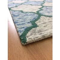 Handmade Wool Modern Brown/ Blue 5x8 lt1378 Area Rug