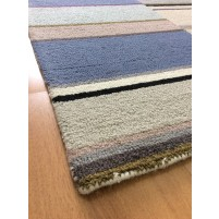 Handmade Wool Modern Blue/ Silver 5x8 lt1388 Area Rug