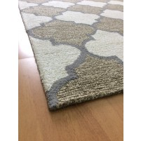 Handmade Wool Modern Brown/ Ivory 5x8 lt1389 Area Rug