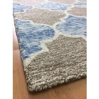 Handmade Wool Modern Blue/ Brown 5x8 lt1400 Area Rug