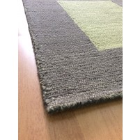 Handmade Wool Modern Brown/ Green 5x8 lt1419 Area Rug