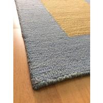 Handmade Wool Modern Blue/ Brown 5x8 lt1427 Area Rug