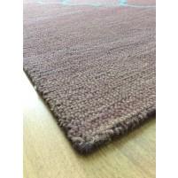 Handmade Wool Modern Brown/ lue 5x8 lt1436 Area Rug