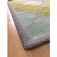 Handmade Wool Modern Blue/ Green 5x8 lt1439 Area Rug